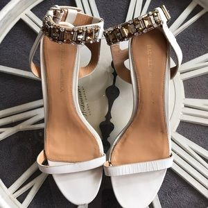Baffled Mischka Diamond Ankle Strap Sandals